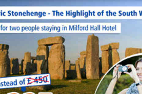 Milford Hall Hotel - Short stay for 2 - Save 50%