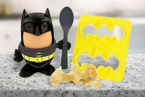 iThink Gadgets - Novelty Batman Egg Cup and Toast Cutter - Save 20%