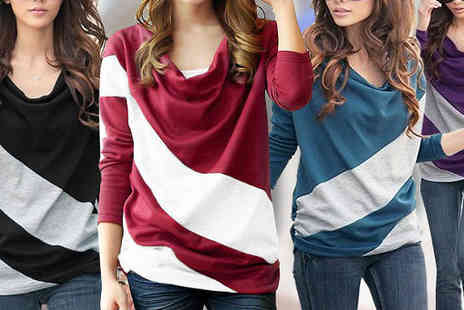 Gift box bristol - Bold Stripe Long Sleeve Top - Save 63%