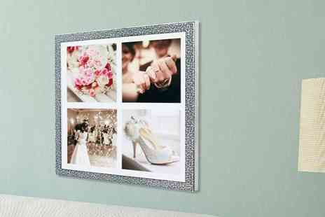 "Your Perfect Canvas - 12"" x 12"" 4 in 1 framed print - Save 86%"
