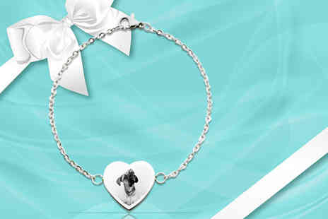 British Gem - Personalised Aphrodite heart chain bracelet - Save 76%