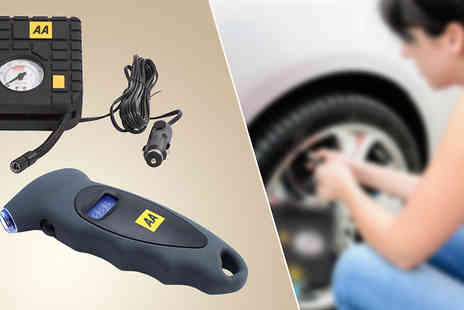 AMS Global - AA Digital Tyre Pressure Guage and Inflater - Save 0%