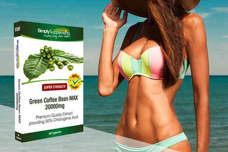 Simply Supplements - 60 capsules of Green Coffee Bean MAX strength 20,000mg - Save 56%