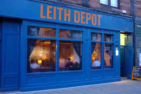 Leith Depot - Fish and Chips with Optional Glass of House Wine for Two - Save 0%