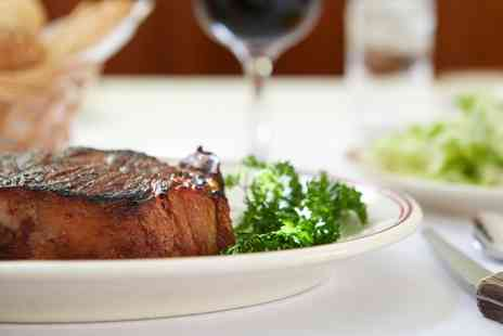Steak Inn - Two Course Steak Meal with Wine for Two or Four - Save 57%