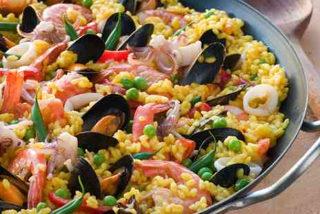 The Med Bar - Paella For Two or Four With Soft Drink - Save 0%