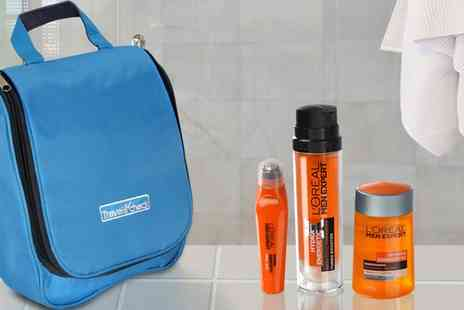 Groupon Goods Global GmbH - LOreal Men Hydra Energetic Care Set and Toiletry Bag - Save 63%