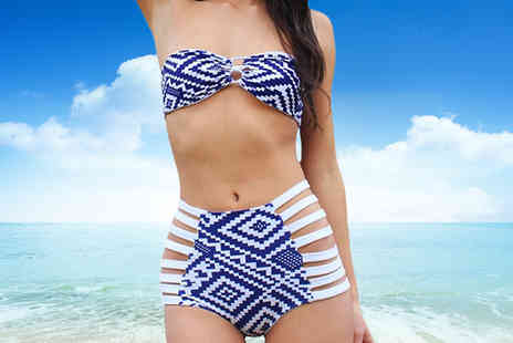 Shapelle - High Waisted Aztec Print Bikini - Save 60%