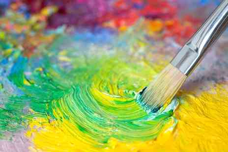 Arty Mix - One Day Acrylic Painting Workshop for One or Two - Save 66%