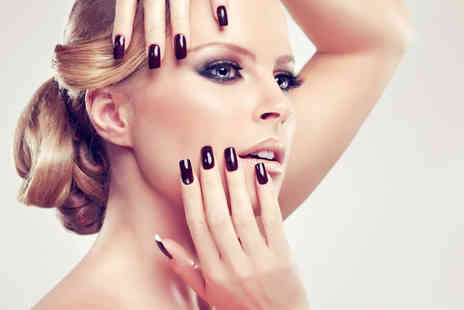 HMB Salon - Gel manicure including a file, shape and cuticle tidy or gel manicure and pedicure - Save 55%