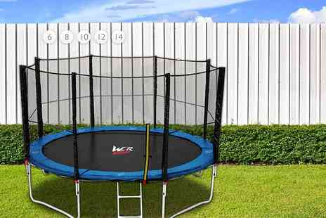 We R Sports - Trampoline and ladder choose from seven sizes - Save 67%