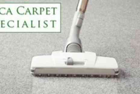 ABCA Carpet Specialists - Carpet Cleaning for Two Rooms and Hallway with Spot Stain Removal and Deodorising - Save 64%