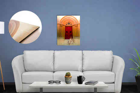 "Your Perfect Canvas - Get a personalised metal print. Choose from four sizes: 12"" x 8"", 18"" X 12"", 24"" x 16"" - Save 82%"
