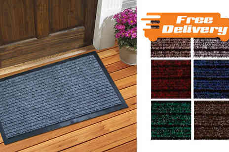 The Rug Shop - Premium Waterproof Dirt Grabber Mat Available In Six Colours - Save 67%