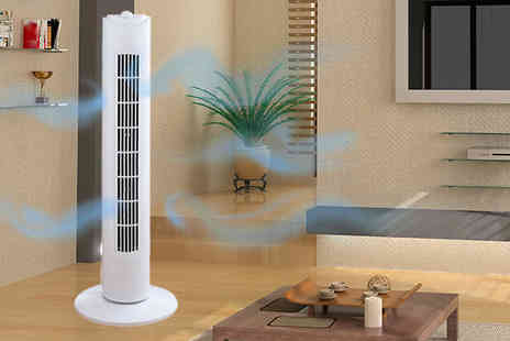 A2BShopping - 29 Inch Oscillating Tower Fan with 2 Hour Timer and 3 Speed Settings - Save 0%