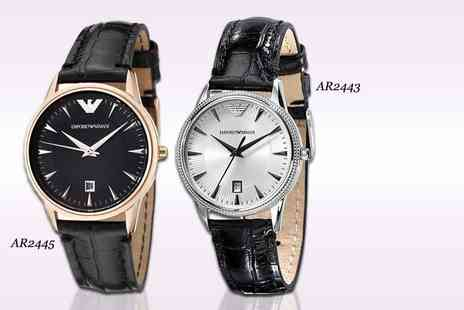 Gray Kingdom - Womens Emporio Armani watch choose from two designs - Save 56%