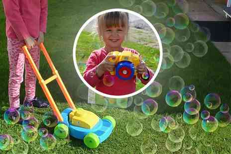 Advanced Global Productions - Childrens bubble blowing camera or lawn mower bubble blower - Save 69%
