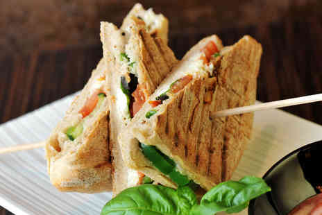 Patisserie Valerie - Sandwich, baguette or ciabatta with a drink for two - Save 49%