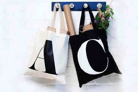 Pretty Personal Gifts - Personalised Initial Tote Bag in 2 Colours - Save 62%