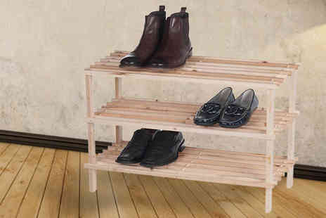 BuyBay - Wooden Shoe Storage Unit of 2 or 3 Layer - Save 54%