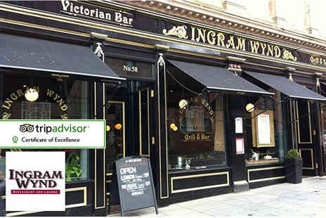 Ingram Wynd - Afternoon tea for two or include a glass of Prosecco each - Save 52%