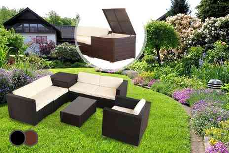 Evre - Seven piece Vegas rattan furniture and cushion box - Save 58%