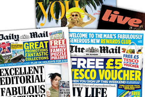 Wowcher Direct - Three month subscription to the Daily Mail & Mail on Sunday - Save 0%