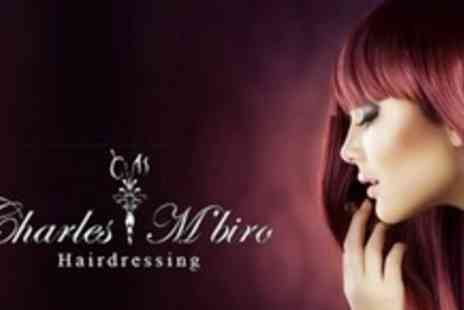 Charles Mbiro Hairdressing - Half Head Highlights or Full Head of Colour With Cut and Blow Dry - Save 60%