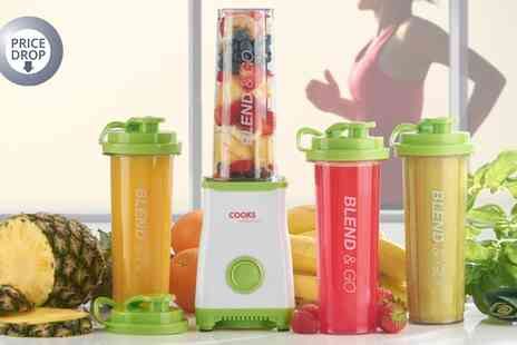Groupon Goods Global GmbH - Cooks Professional Personal Smoothie and Drinks Blender With Two or Four Cups - Save 77%