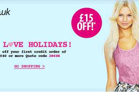 Very - £15 OFF when spend £40 or more - Save 38%