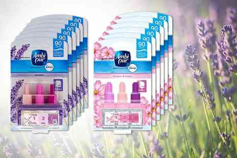 Brandsaver - Six Ambi Pur 3volution refill fragrances choose from blossom, cotton, lavender and vanilla scents - Save 43%