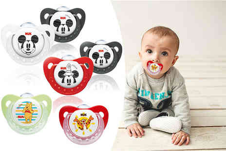 NUK - Two NUK silicone dummies choose from two designs - Save 42%
