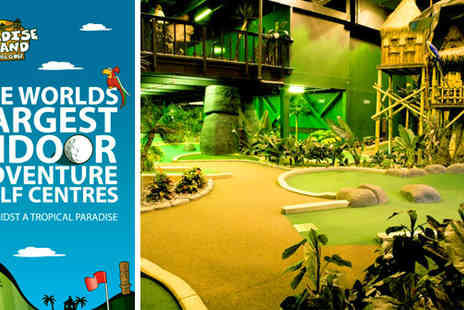 Paradise Island Adventure Golf - 18 holes of adventure golf for two adults and two children for £9 - Save 64%