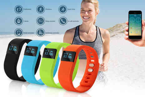 The Pretty Essential Company - TW64 smart Bluetooth fitness bracelet choose black, blue, orange or green - Save 75%