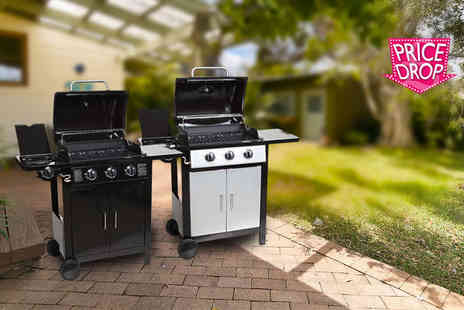 Evre - Four burner gas barbecue choose silver or grey - Save 65%