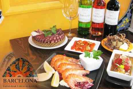 Barcelona Tapas Bar & Restaurant - Authentic Tapas For Two With Wine for £18.76 - Save 60%
