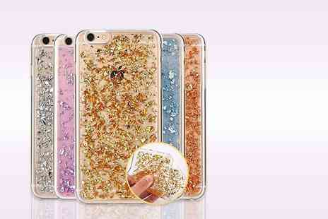 LOVETTIUK - Glitter design iPhone case for iPhone 5/S/C/SE, 6/S or 6 Plus/S Plus choose from gold, silver or pink - Save 80%
