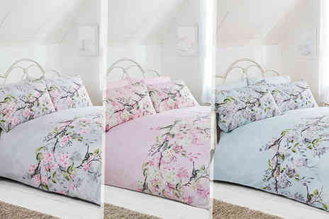 Linens R Us - Single, double or king size floral duvet cover set - Save 70%
