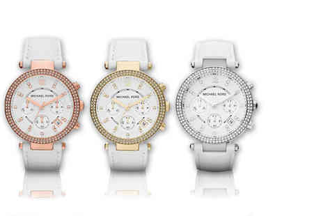 Gray Kingdom - White leather Michael Kors watch choose from three colours - Save 60%