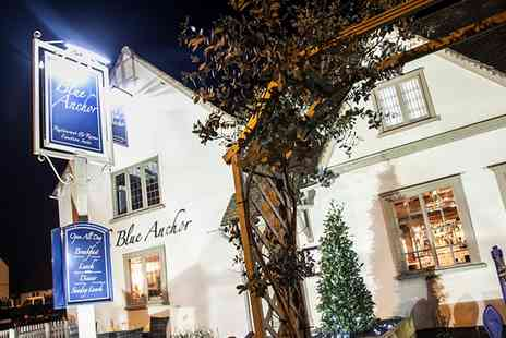 The Blue Anchor - Two Course Meal with Cocktail or Wine for Two or Four - Save 59%