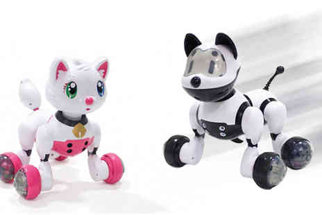 Fab Shopper - Voice Activated Childrens Robot Pet Cat or Dog Available - Save 72%