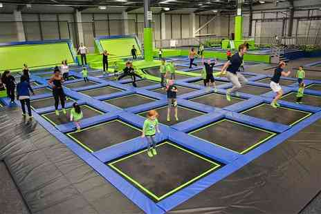 Go Jump In - One hour of trampolining for two - Save 50%