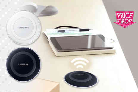 Wowcher Direct - Samsung Galaxy S6 wireless Qi charging pad choose black or white - Save 73%