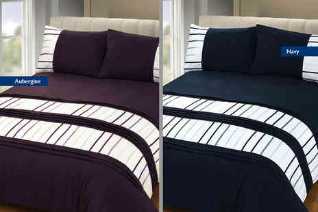 Linens R Us - Single, double or king size Brooklyn duvet cover - Save 69%