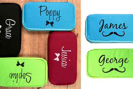 Pretty Personal Gifts - Personalised Passport Holder Available in Four Colours - Save 60%