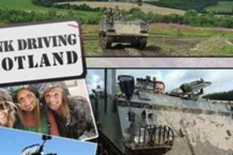 Tank Driving Scotland - Tank Ride Plus Paintballing For Eight - Save 77%