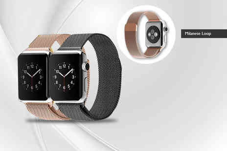 Heads Group - Milanese stainless steel loop Apple compatible watch band - Save 73%