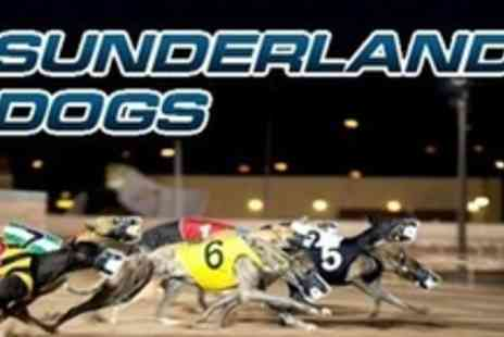 Sunderland Dogs - Greyhound Racing For Two With Race Card, Drinks and Snack Plus Nightclub Entry - Save 75%
