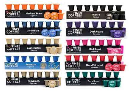 Fine Coffee Club - 100 Nespresso compatible capsules in 10 fragrant flavours including Light Roast, Intense and Decaffeinated - Save 52%