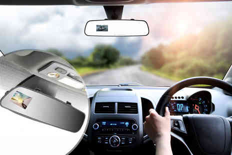 J & Y - 2.7 inch HD in car rearview mirror accident camera - Save 0%